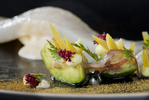 North Sea Soul with Joselito Pancetta Juniper Berries and Avocado